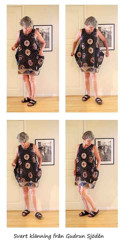 Svart klänning från Gudrun Sjödén