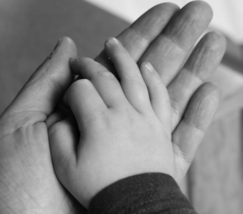 Min och Walles hand