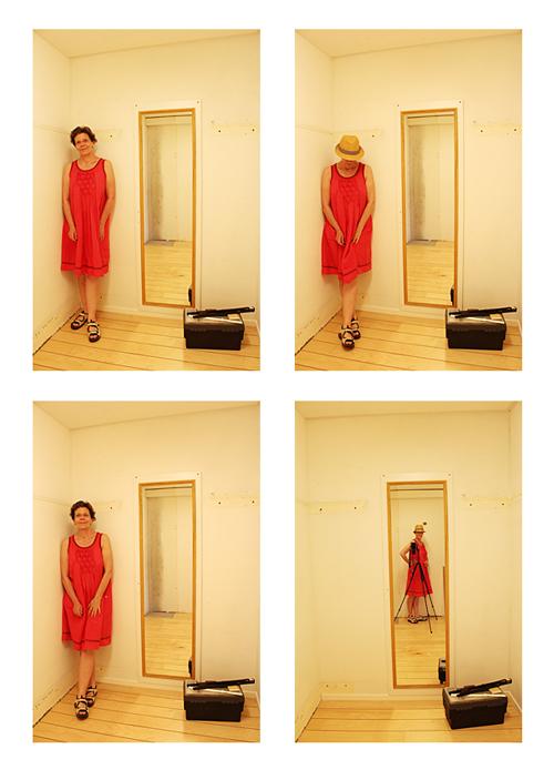 En röd klänning