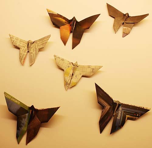 Origami av tidningspapper