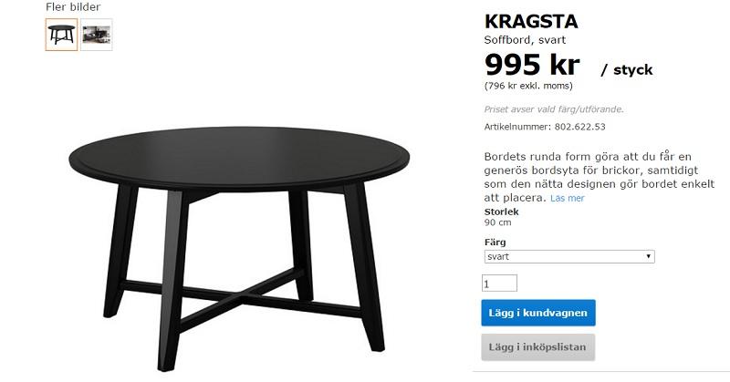 Bord Kragsta