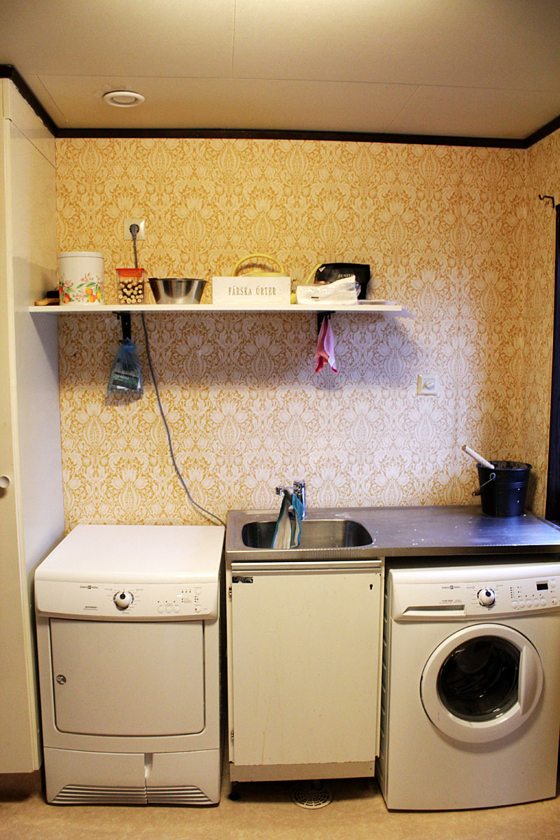 Ny hylla i tvättstugan